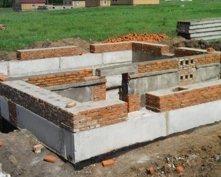 Блочный фундамент для дома