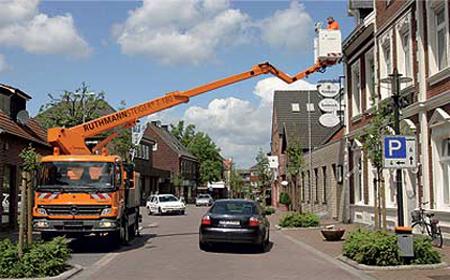Применение автовышек в современном строительстве