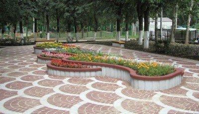 Применение бетона в мощении приусадебной территории