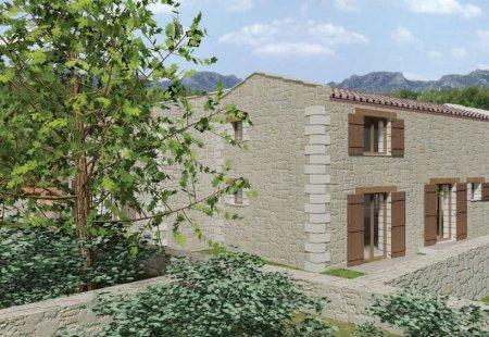Современный дом из камня