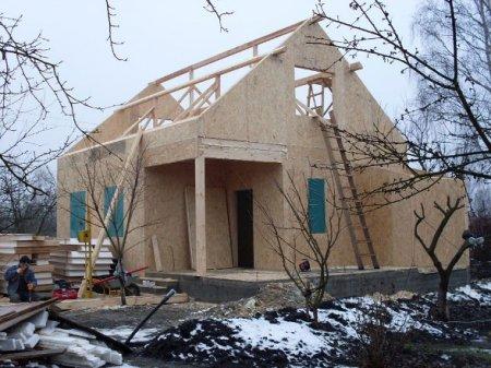 Строим каркасный дом зимой