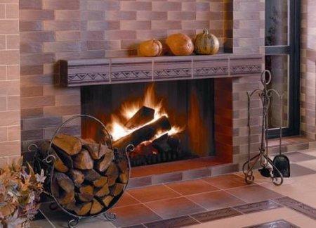 Технология облицовки камина керамической плиткой
