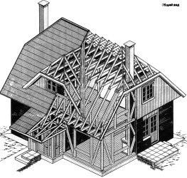 Жилой дом с мансардой