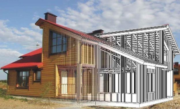 Каркасный дом – мечта дизайнера