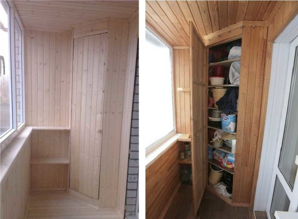 Как сделать шкаф на балкон или лоджию
