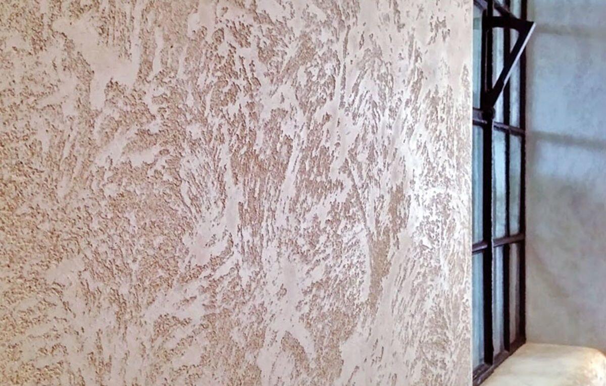 Декоративная штукатурка стен интерьера домов