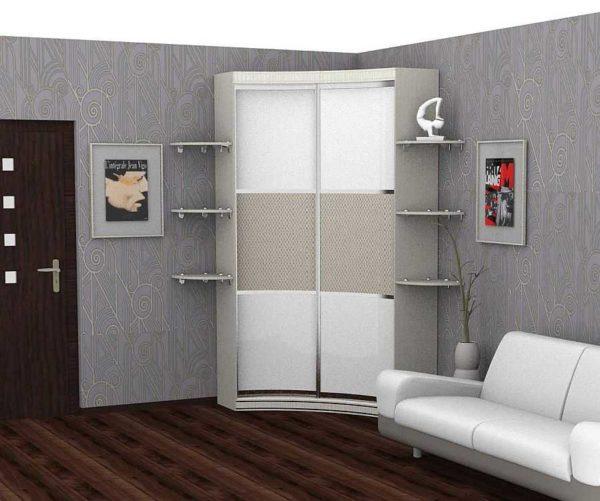 Угловой шкаф купе в гардеробную, спальню, прихожую