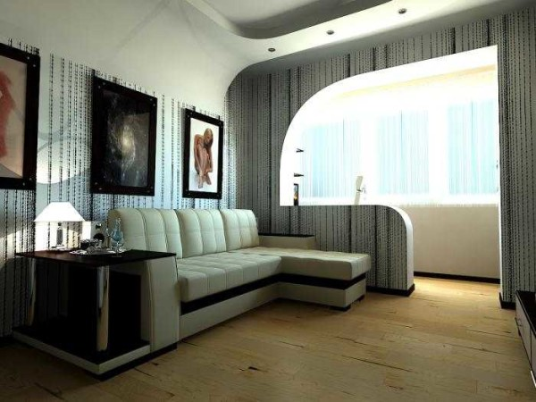 Совмещение балкона (лоджии) с кухней, комнатой