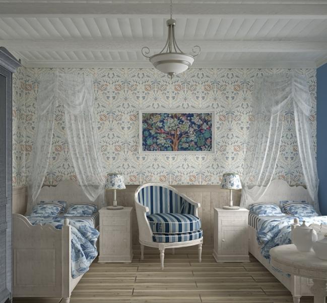 Обои в стиле Прованс соединяют в себе старину, море и отдых на природе