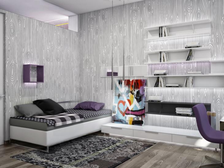 Стильные и функциональные обои для подростковой комнаты мальчика и девочки